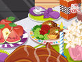 Decorate Thanksgiving dinner table