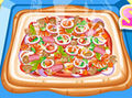 Hot and Yummy Squared Pizza