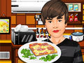 Biebers Cooking Pizza